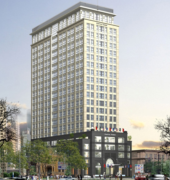 Cho thuê văn phòng khu vực Hà Nội tòa Capital Tower